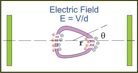 Electroporation electric field diagram